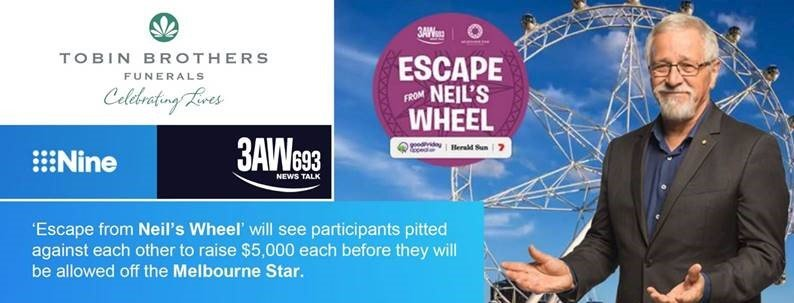 Escape from Neil's Wheel: Good Friday Appeal Fundraiser